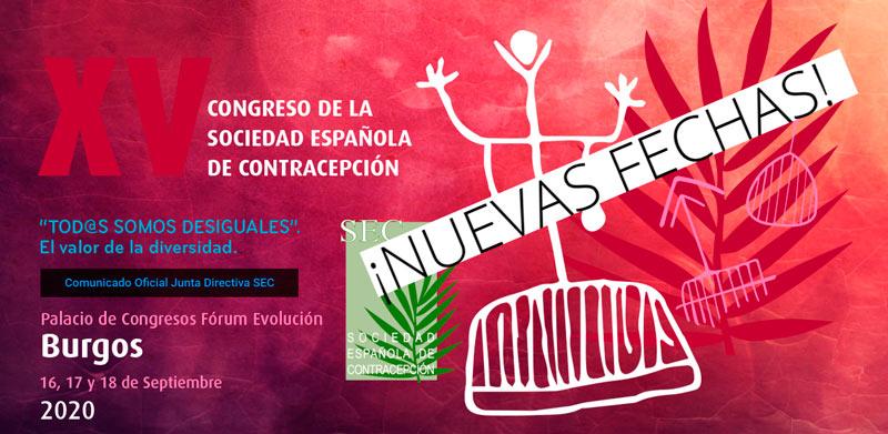 Nuevas fechas para el XV Congreso de la Sociedad Española de Contracepción